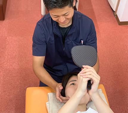 お顔のチェック(検査)